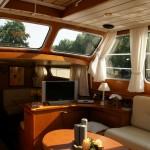 binnenkant schip yacht huibers